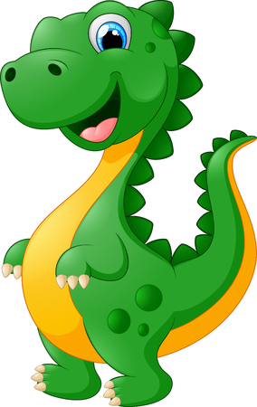 green cute: cute cartoon dinosaur