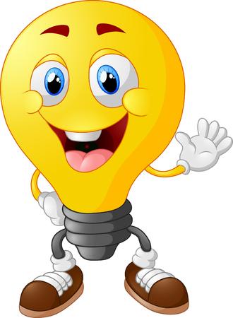 leuchtend: Cartoon-Glühbirne