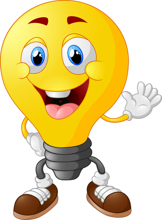 smiley face cartoon: Cartoon light bulb Illustration