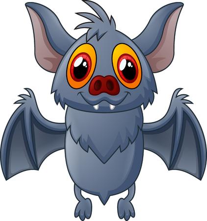 flaying: Happy Vampire Bat Cartoon Character Flying Stock Photo
