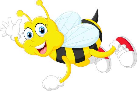 abeja reina: linda de la historieta de la abeja Foto de archivo