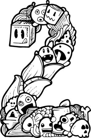 three points: doodle number 2 illustration