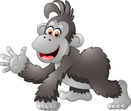 happy gorilla cartoon