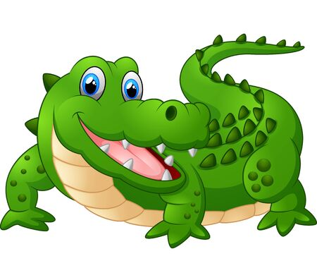 cartoon crocodile: cute crocodille cartoon Stock Photo