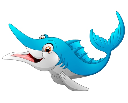 marlin: marlin fish cartoon