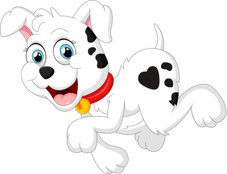 wag: cute dog cartoon Illustration