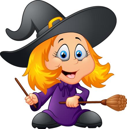 happy witch cartoon