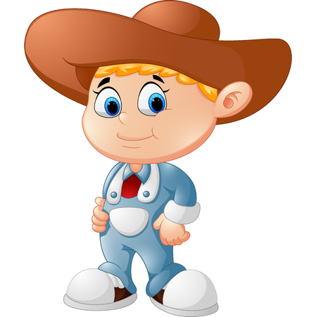 working cowboy: Cute young cowboy