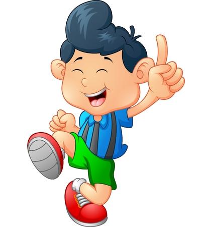 Glücklich junge karikatur Standard-Bild - 47562284
