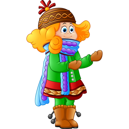 winter season: Cute Little Girl in Winter