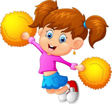 cheer: Illustration of a cheerleader Illustration