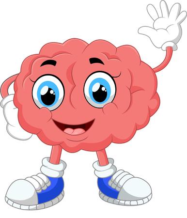 brain illustration: Brain cartoon illustration