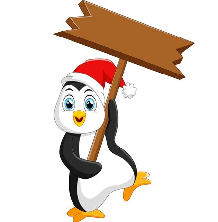 christal: cute penguin christmas cartoon