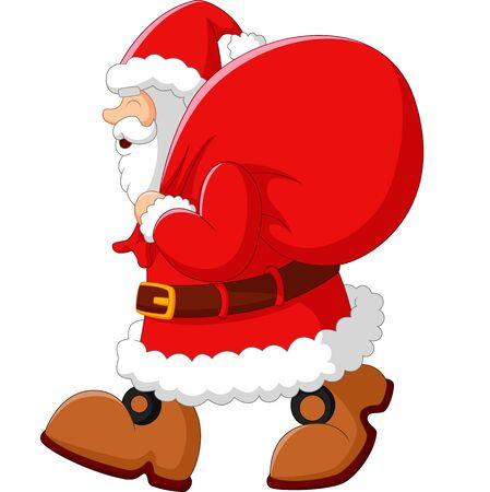 sack: happy Santa with sack Stock Photo