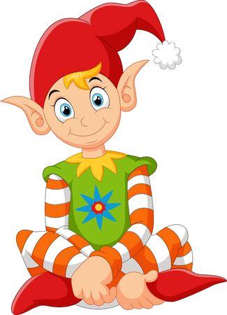 gnome: cartoon gnome sitting