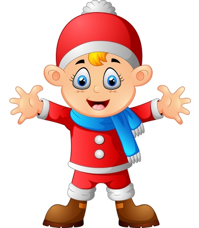 costum: kid wearing santa costum