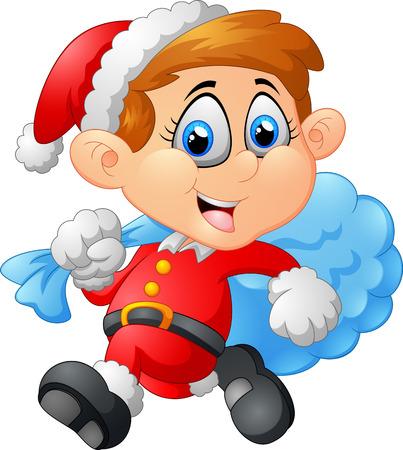 costum: little kid with santa costum
