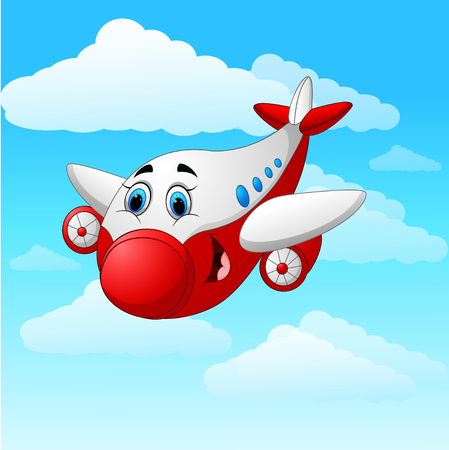 Cartoon plane character Illustration
