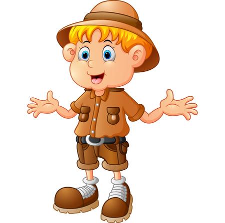 boy explorer cartoon