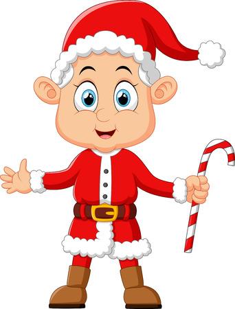 costum: cartoon kid wearing santa costum