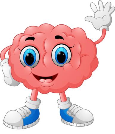 cerebro humano: Ilustración de dibujos animados de cerebro