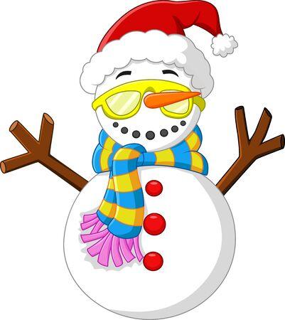 snowman cartoon: Snowman cartoon Stock Photo