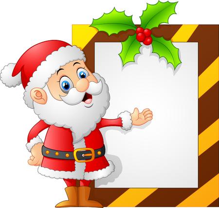 presenting: santa presenting blank sign