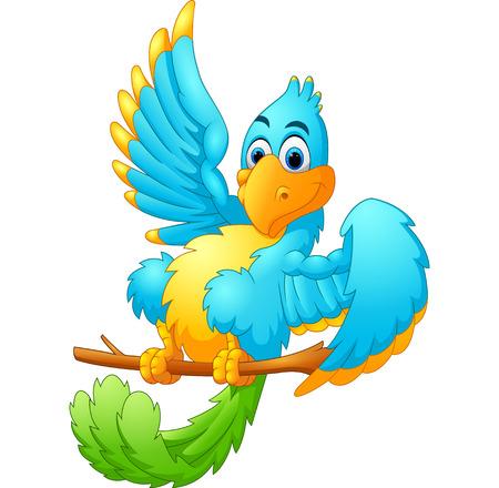 tweet icon: Cute blue bird cartoon waving
