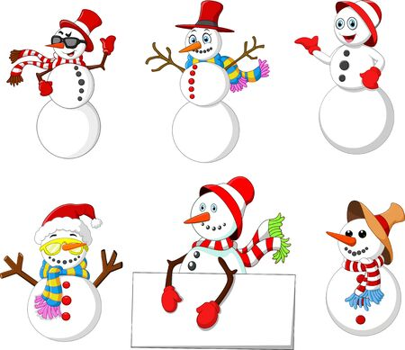 snowman cartoon: cartoon snowman collection