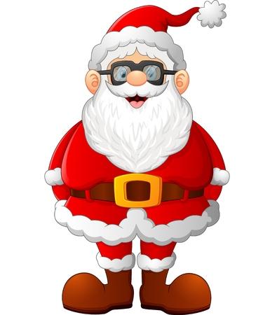 posing: cartoon santa posing