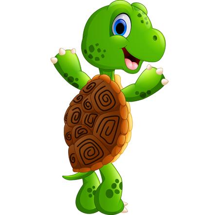 posing: Cute turtle cartoon posing