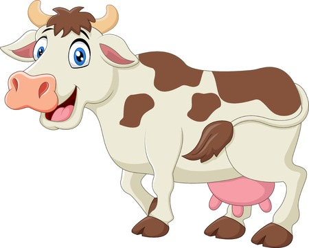 Cute cow cartoon 일러스트