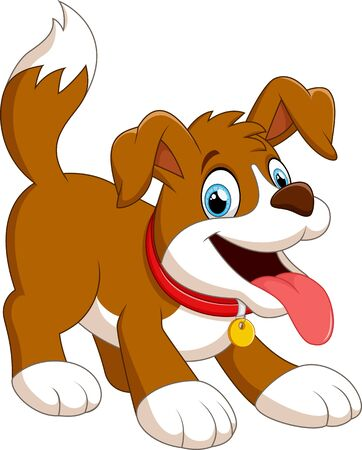 domestic animals: cute fun dog cartoon