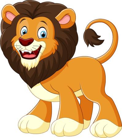 animales safari: ilustración león de la historieta