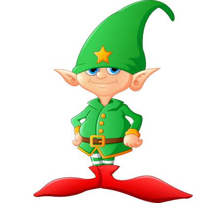 Niedlich und frohes Weihnachtsfest Elf Standard-Bild - 49342963