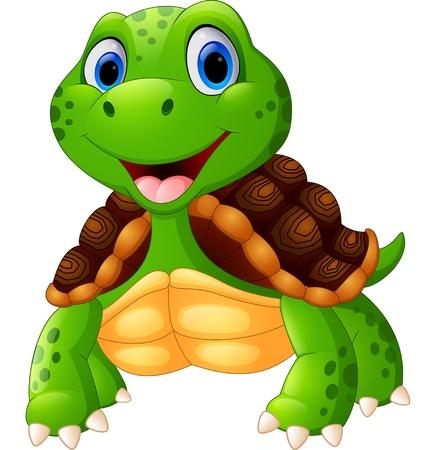 Nette Schildkröte Cartoon posing Standard-Bild - 49350827