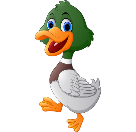 squeak: Cute cartoon duck