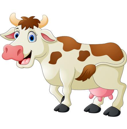 Cute cow cartoon Stock Photo