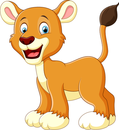 whisker characters: cute lion cartoon Stock Photo