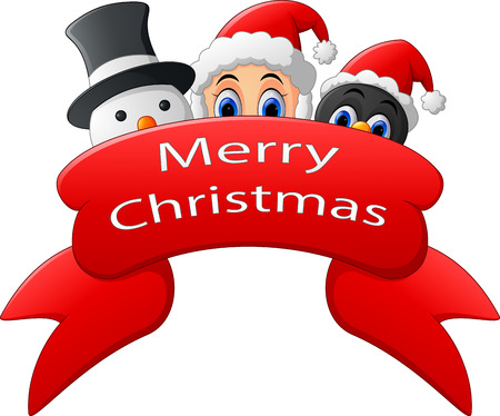 clip art santa claus: christmas greeting illustration