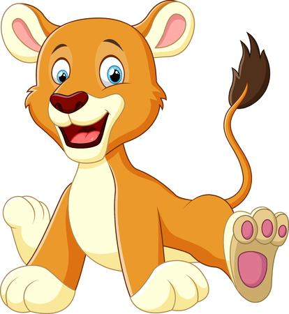 cute lion cartoon Çizim
