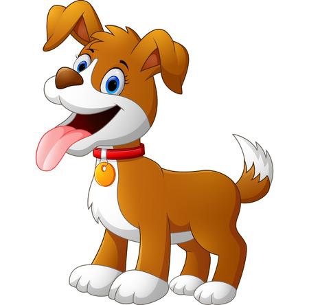 perro corriendo: divertido lindo de la historieta del perro
