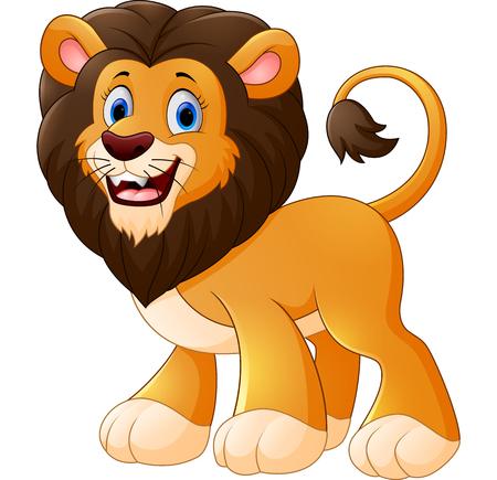 cartoon hands: cute lion cartoon Stock Photo