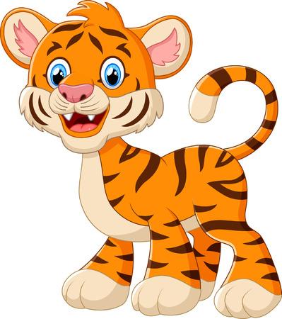 tigre bebe: historieta del tigre de beb� lindo Foto de archivo