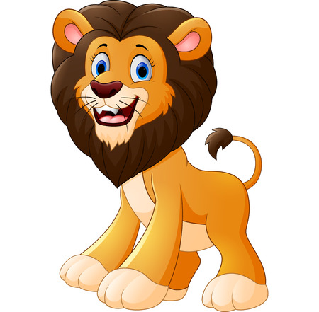 cartoon king: Lion cartoon