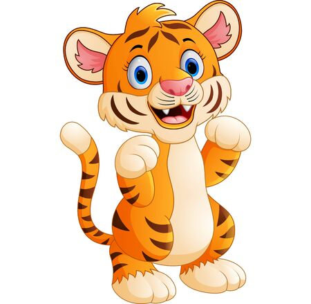 tell fortune: cartoon cute tiger Stock Photo