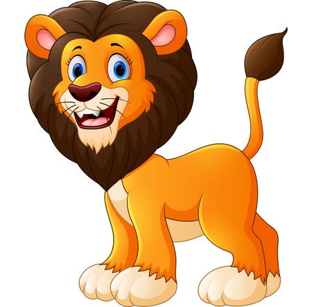 cute babies: cute lion cartoon Stock Photo