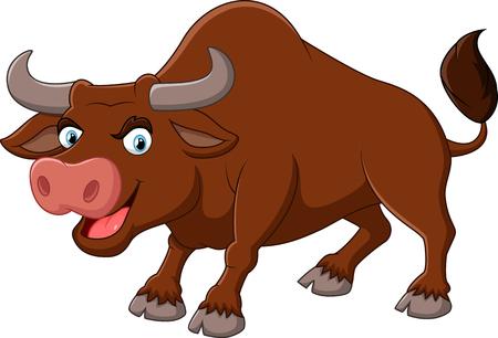 angry bull: Angry bull cartoon
