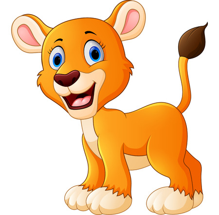 female lion: cute lion cartoon Illustration
