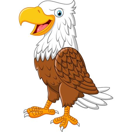 posing: Cartoon eagle posing